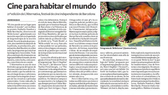 article espagnol sur le film